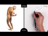 Proko Figure drawing fundamentals - 01 Gesture - Gesture Quicksketch - 2 Minute Pose (7)