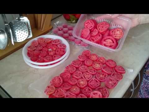 Заготовка ПОМИДОРОВ на ЗИМУ 2 СПОСОБА заморозки. Preparation of tomatoes.