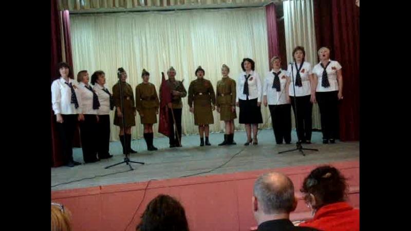 Военный танец под музыку выходила на берег катюша