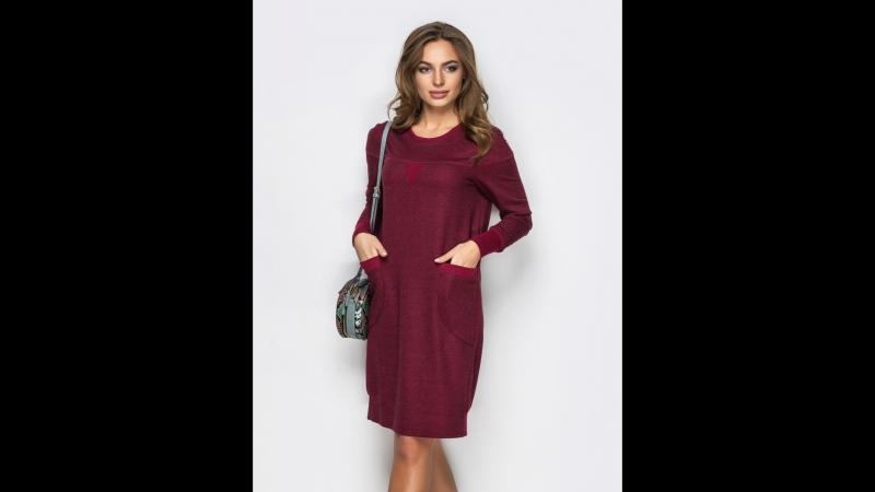 425грн ПЛАТЬЕ 43147/1 44 46 48 50 52 54 Комфортное платье в стиле casual с накладными карманами на полочке. Изделие выполнено из