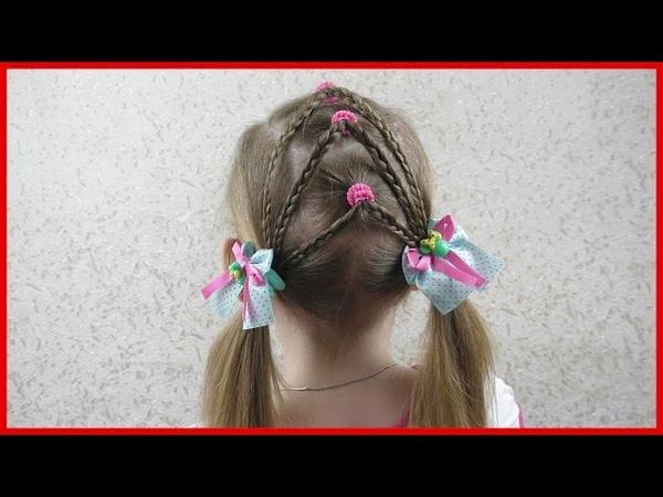 Простые и красивые прически для девочек за 5 минут