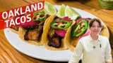 The Oakland Pork Belly Tacos with French and Chinese Influence Cooking in America