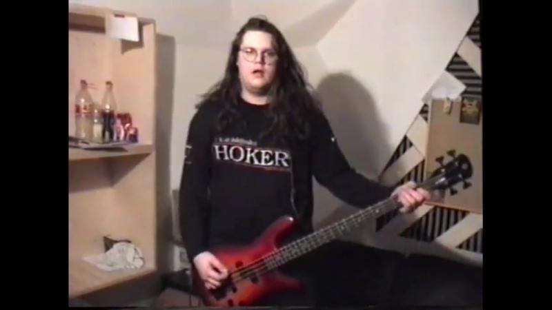 Meshuggah Recording bass for Destroy Erase Improve
