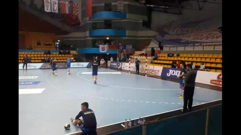 Атмосфера перед матчем БГК им.А.П. Мешкова - Горенье (Словакия)
