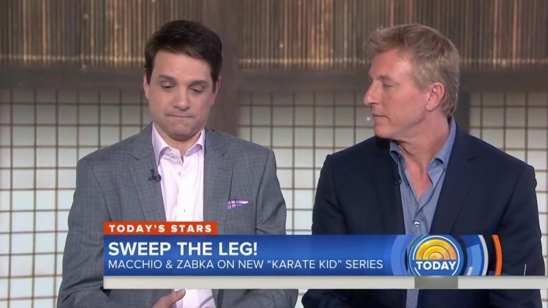 Кобра-Кай о съёмках интервью 'Karate Kid' Sequel 'Cobra Kai' Reunites Ralph Macchio And William Zabka