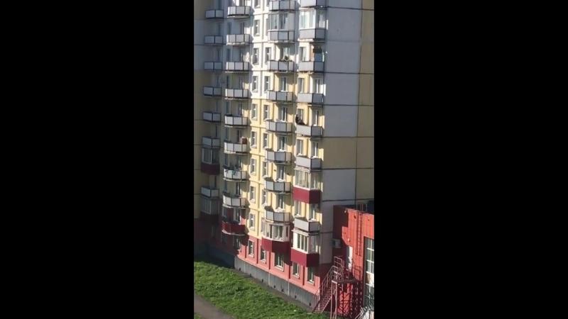 Дети перелезают с балкона на балкон Новокузнецк С балкона на балкон или когда мамка не пустила в гости к другу