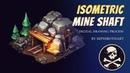 Sephiroth Art Isometric Mine Shaft ● Digital Drawing Process ● Photoshop