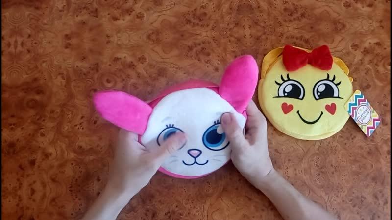 Детские сумочки Зайка и Смайлик с бантиком