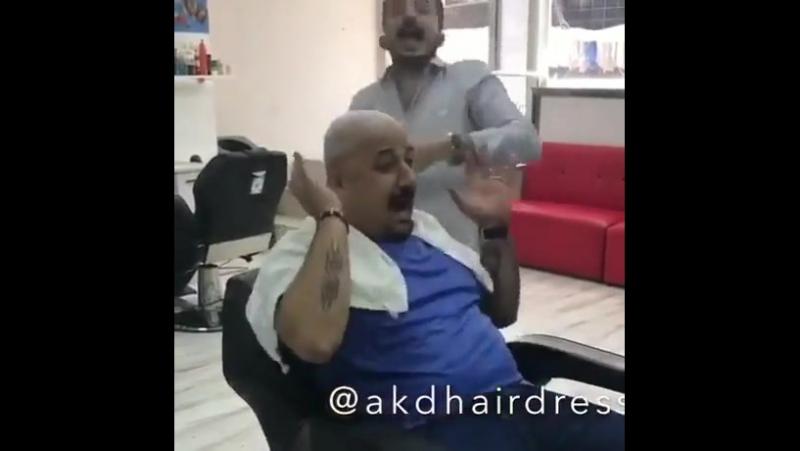 Прикол над парикмахером, угар