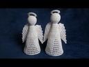Jak zrobić anioła 3D szydełkiem - Wzór 3