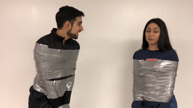 THE DUCT TAPE CHALLENGE WITH A SURPRISE! (BROTHER VS SISTER)
