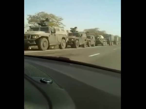 На границе Чечни и Дагестана замечена большая колонна наших пустоголовых войск. 14.10.18.