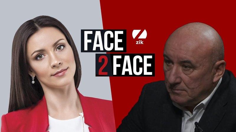 Володимир Хижий генерал лейтенант у програмі FACE 2 FACE з Тетяною Даниленко