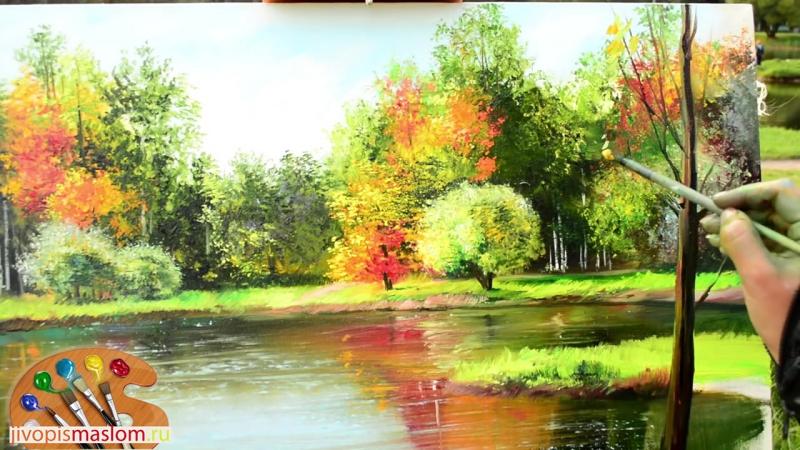 Часть 5. Как нарисовать дерево на переднем плане. Ольга Базанова