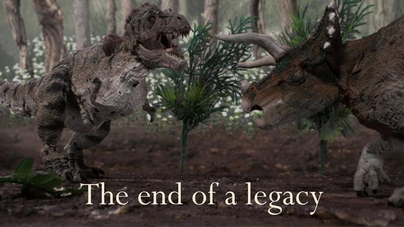 T-Rex vs Triceratops Stop Motion