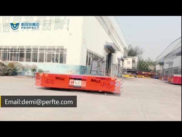 Custom load of 1-300t AGV electric plate transfer cart apparatus