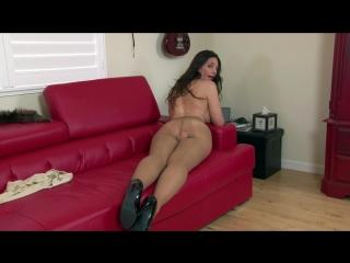 Sexy milf playing in tan shiny pantyhose