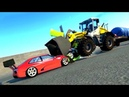 Долбаем машинки в BeamNG Drive мощные аварии грузовики полицейские спортивные тачки YTFMM 2