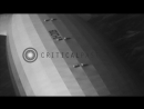 Very close view of LZ 129 Hindenburg in flight over coast of New Jersey as seen f...HD Stock Footage