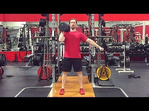 Single Arm Eccentric Accentuated Dumbbell Push Press
