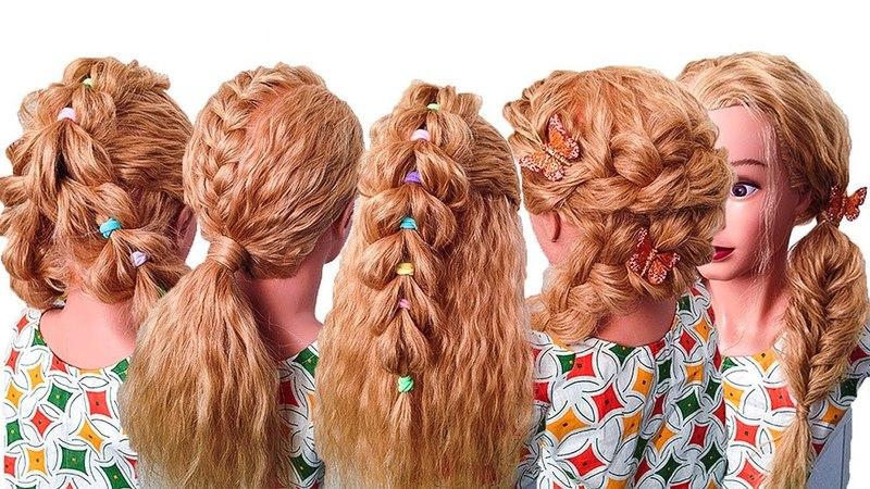 ПРИЧЕСКИ НА ПОСЛЕДНИЙ ЗВОНОК 2018. Прически на Выпускной в Садик. Cute Girls Hairstyles