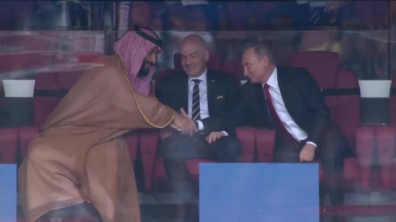 Реакция Путина на первый гол сборной России __ Россия - Саудовская Аравия __ ЧМ по футболу - 2018