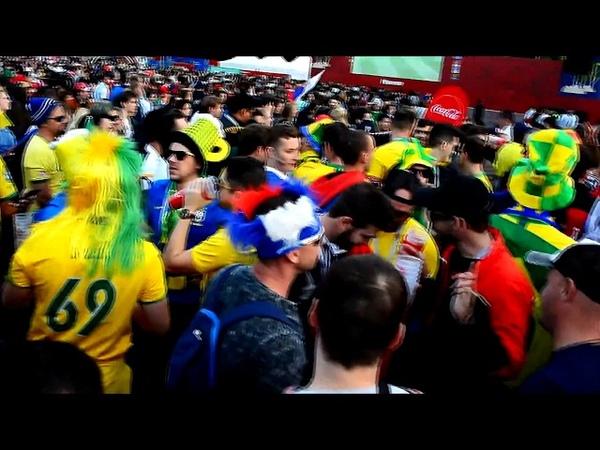 FIFA Fan Fest 2018. Последние 10 минут матча Россия - Саудовская Аравия. Москва. Воробьёвы горы.
