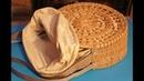 Шьем подкладку для круглой плетёной сумки Весеннее солнце
