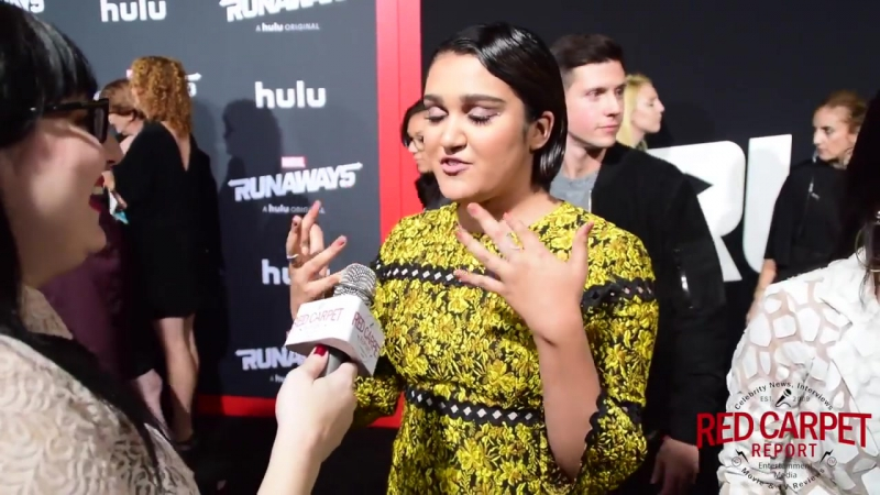Ariela Barer interviewed at the Premiere of Marvels Runaways on Hulu