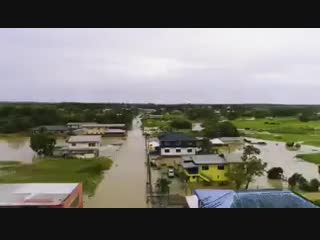 Flooding in trinidad and tobago sky view 2018