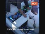 В Геленджике рыбаки выловили в море пиво и газировку