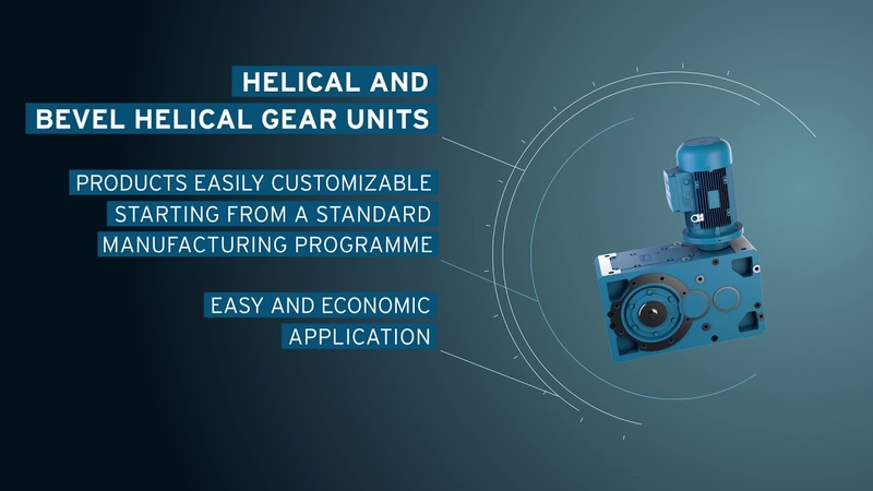 Rossi Helical and bevel helical gear units G Series