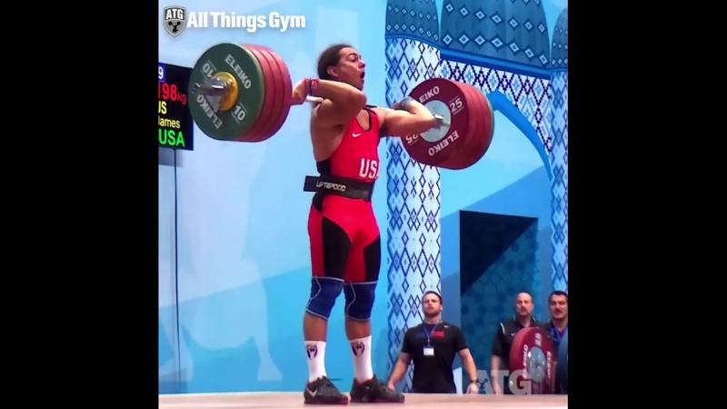 Толчок 198 кг при собственном весе 82 кг