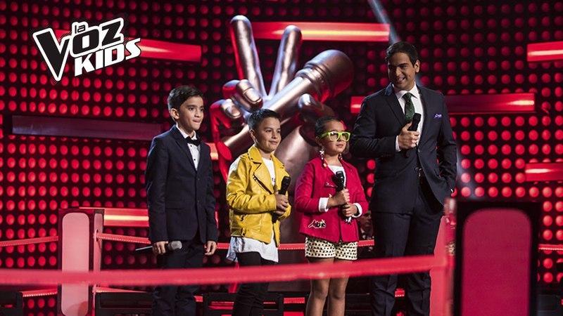 Jorge, Monserrat y Juanse cantaron en la Súper Batalla de Yatra | La Voz Kids Colombia 2018