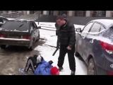 СтопХам Активисту пробили голову СлаБО НЕРВНЫМ НЕ СМОТРЕТЬ 18