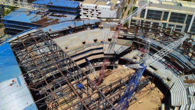 Строительство арены Чейз Центр в Сан-Франциско (07.2018)