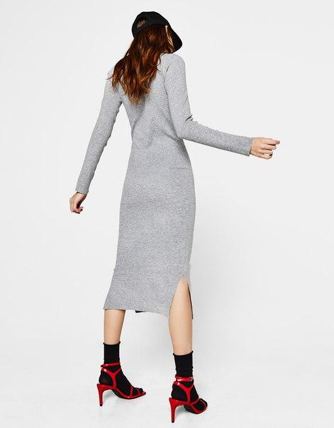 Платье миди облегающего кроя