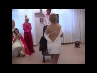 Стриптиз для жениха жена смотрит жестят на свадьбе...