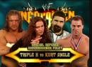 Triple H Vs Kurt Angle - Mick Foley As Guest Referee - No DQ Match - Unforgiven 2000