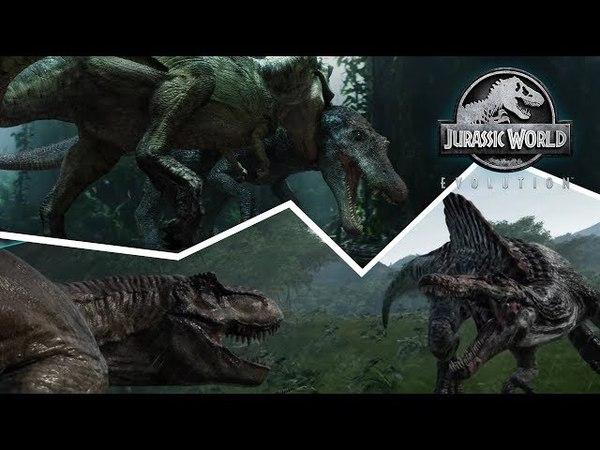 Что Если Тираннозавр-Рекс Победит Спинозавра! Реванш в Игре Jurassic World Evolution!