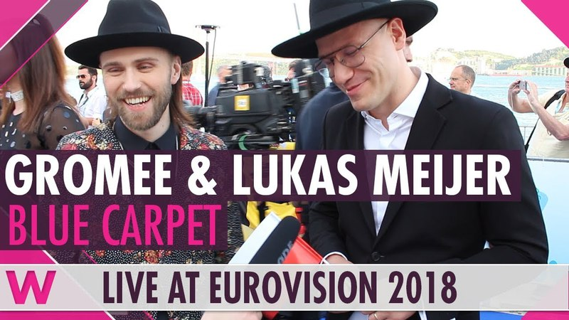 Gromee Lukas Meijer Poland @ Eurovision 2018 Red Blue Carpet Opening Ceremony