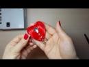 DIY Украшение в форме Сердца из узкой ленты. Мастер-класс Канзаши ко Дню Влюблённых .
