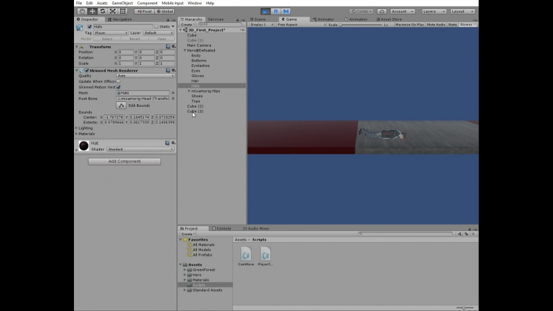 Unity 2017.1.1p4 Personal (64bit) - 3D_First_Project.unity - 3D _First_Project - PC, Mac Linux Standalone_ _DX11_ 13.12.2017 21