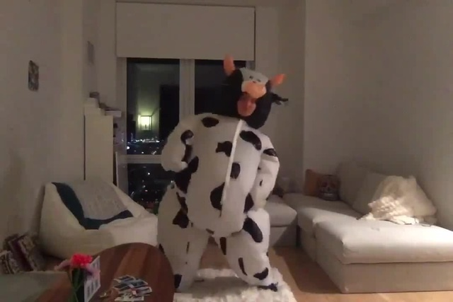I KEPT MY COW SUIT FOR A REASON... cow CamrenBicondova