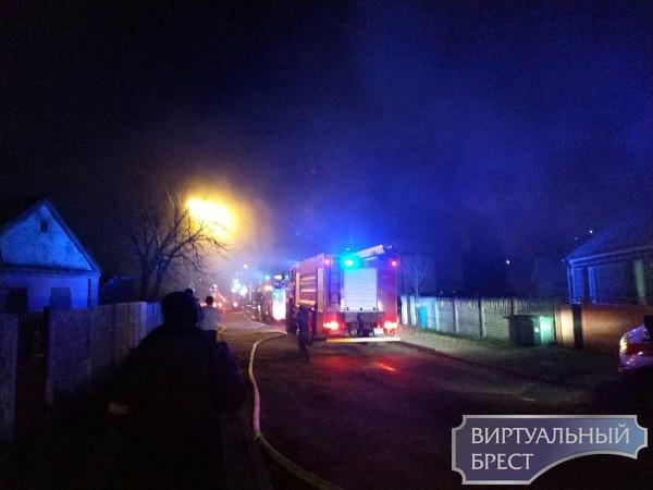 На ул. Чичерина в Бресте произошёл пожар в жилом доме
