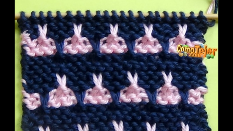 Punto Ropa Bebé 8 - How to Knit a Baby Stitch - 2 Agujas (337)
