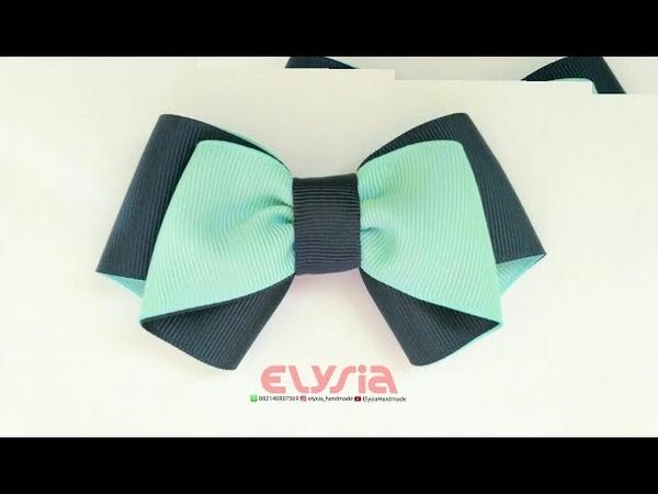 Easy Simple Ribbon Bow   DIY by Elysia Handmade