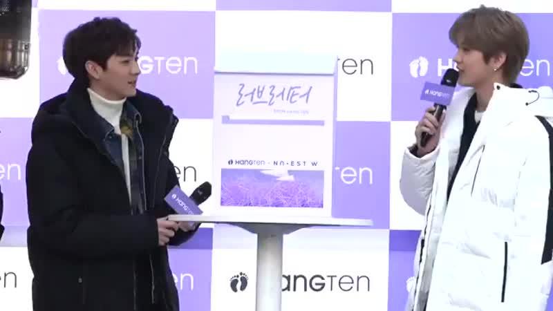 [FANCAM] NU'EST W на фансайне от Hangten Korea (03.11.18)