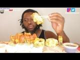 [Good Eating ASMR] ASMR: EATING SUSHI TEMPURA *EATING SOUNDS* NO TALKING