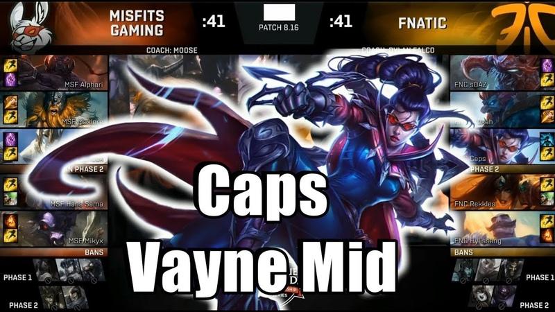 Caps Plays Vayne Mid - FNC VS MSF Game 3 Highlights - 2018 EU LCS Summer Semi Finals